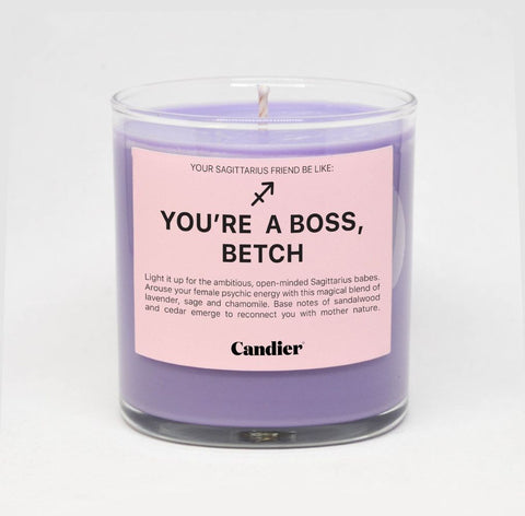 You're A Boss, Betch SAGITTARIUS ZODIAC CANDLE - bambinadicioccolato