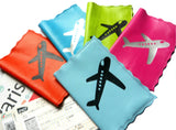 Retro Plane Scalloped Leather Passport Cover