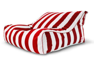 Indosoul Striped Uluwatu Double Lounger Red/white