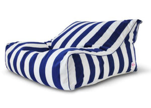 Indosoul Striped Uluwatu Double Lounger Navy/white