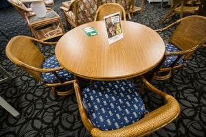 Refurbished 5 Piece Indoor Rattan Dining