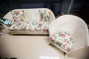 Refurbished Lloyd Flanders Sofa & Chair