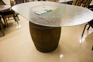 Refurbished Wine Barrel Table