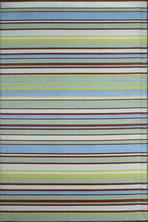 Mad Mats Stripe Grey Aqua