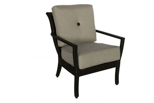 Portica Elise Wicker Lounge Chair And Ottoman By Sunvilla