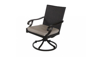 Portica Somerset Wicker Swivel Dining Chair By Sunvilla