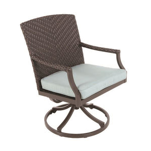 Portica Veneto Wicker Swivel Dining Chair By Sunvilla