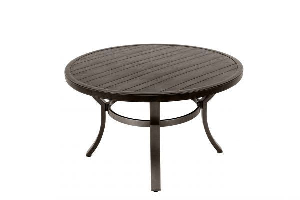Portica Wood Grain Round Dining Table By Sunvilla