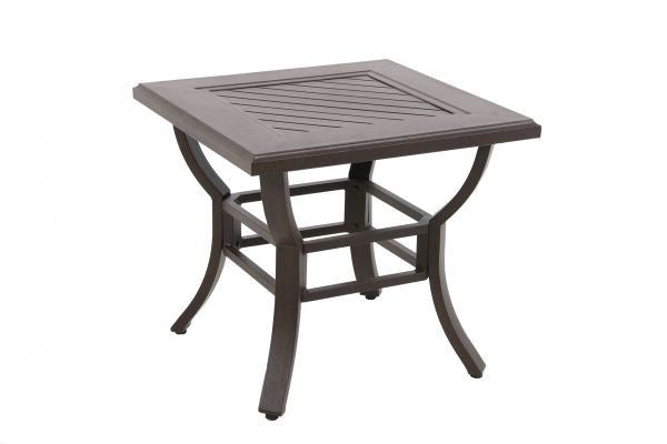 Portica Cast Slats End Table By Sunvilla