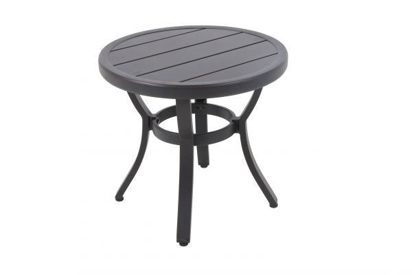 Portica Center Ring Slat Round Side Table By Sunvilla