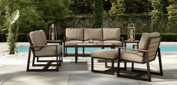 Elements Hampton 6 Piece Deep Seating By Castelle