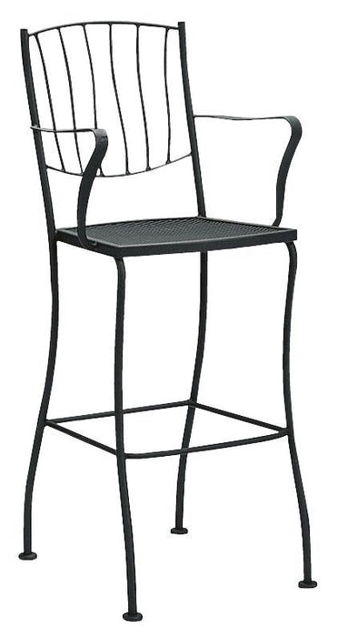 Woodard Aurora Stationary Bar Stool With Arms