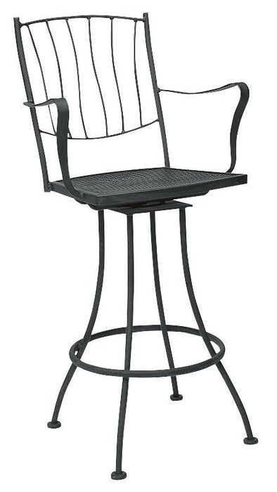 Woodard Aurora Swivel Bar Stool With Arms