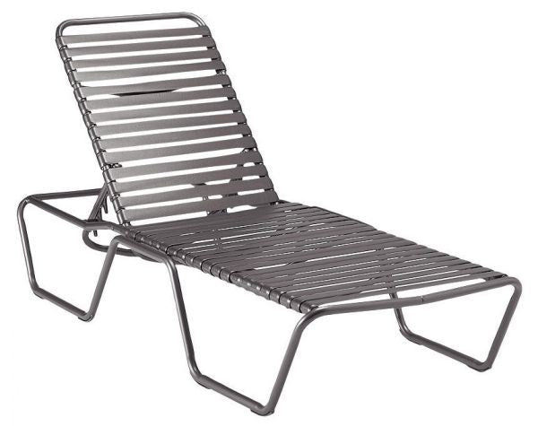 Woodard Baja Adjusable Armless Chaise Lounge - Stackable