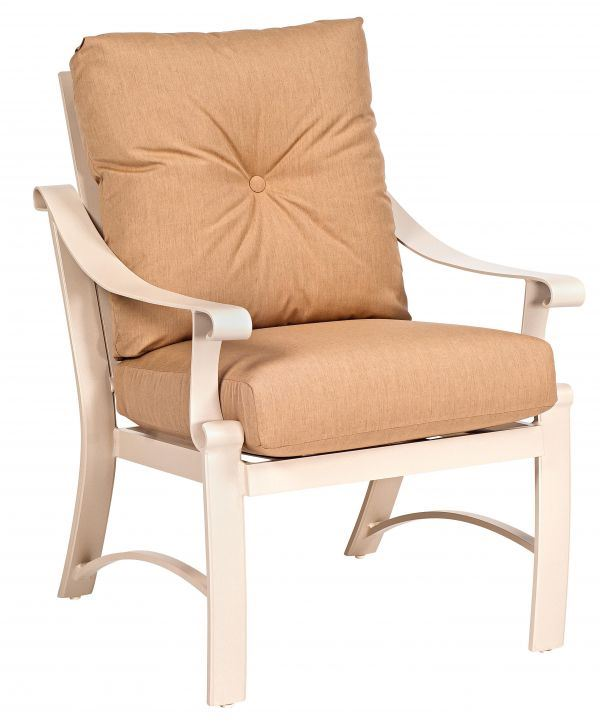Woodard Bungalow Cushion Dining Arm Chair