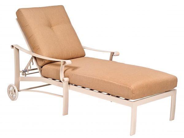Woodard Bungalow Cushion Adjustable Chaise Lounge