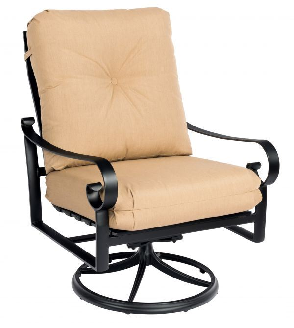 Woodard Belden Cushion Big Man's Swivel Rocker