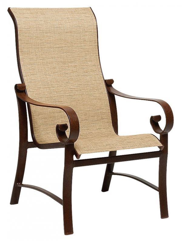 Woodard Belden Sling High Back Dining Chair