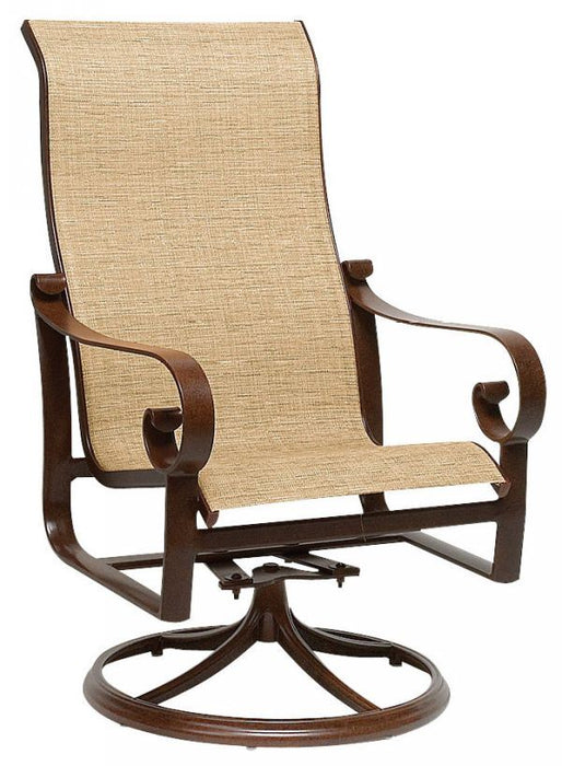 Woodard Belden Sling High Back Swivel Chair