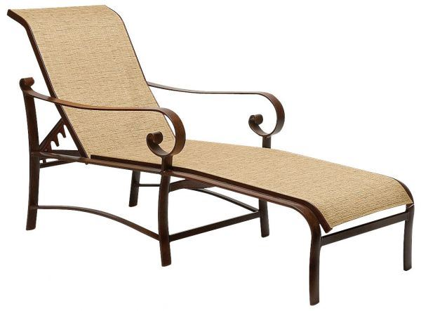 Woodard Belden Sling Adjustable Chaise Lounge