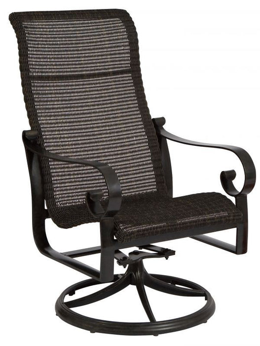 Woodard Belden Woven High Back Swivel Chair