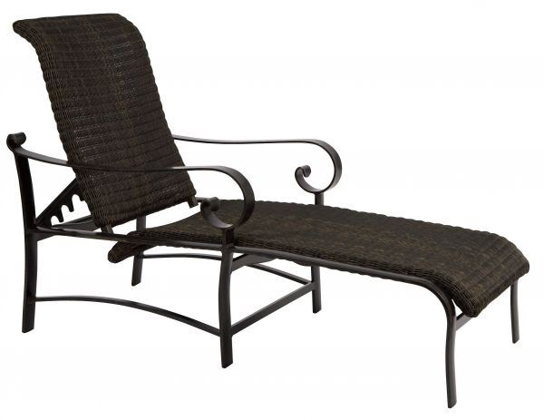 Woodard Belden Woven Adjustable Chaise Lounge
