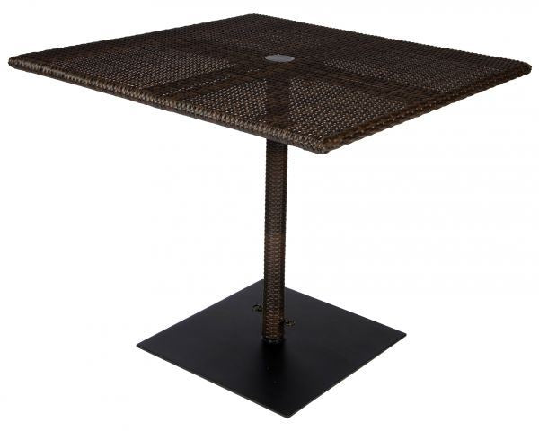 Woodard All-weather Square Umbrella Table With Weighted Base