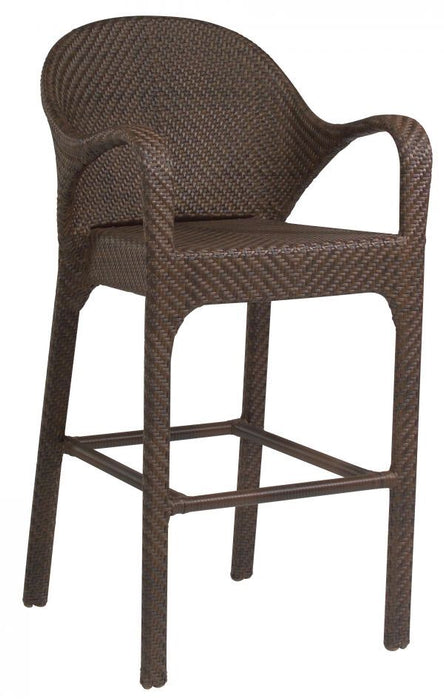Woodard Bali Armed Bar Stool