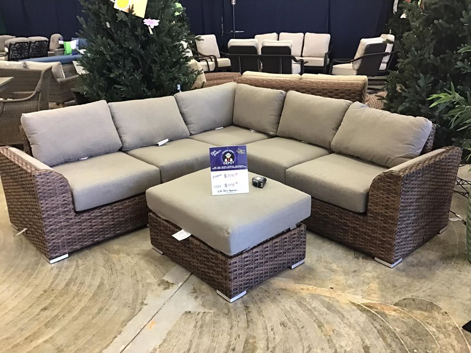6pc patio sectional $1498 compared to $3590