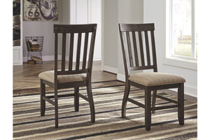 Ashley Furniture Grayish Brown Dresbar Dining Upholstered Side Chair (2 Count)