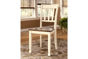 Ashley Furniture Brown/Cottage White Whitesburg Dining Room Side Chair (2 Count)