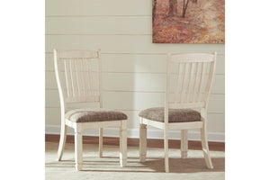 Ashley Furniture Antique White Bolanburg Dining Upholstered Side Chair (2 Count)