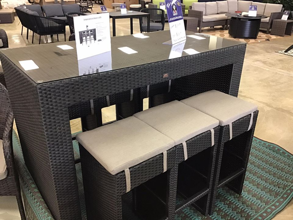 7pc Patio Bar Set - $684 compared to $1399