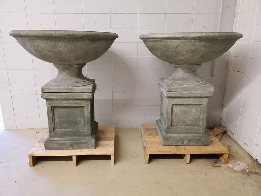 Campania Intl Beauport Urn with St Louis Pedestal - $1950 for the pair, compare at $5198