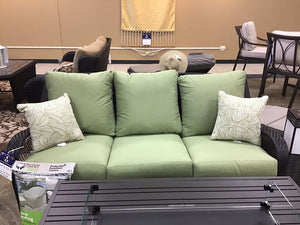 Patio sofa $497 compared to $975 - pillows included