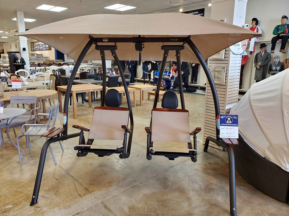 Sunset Swings SB422 Dual Reclining Lounge Swing - $1975 compare at $3195