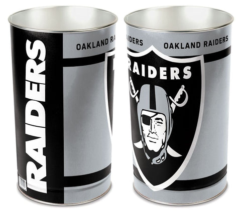 Oakland Raiders Wastebasket 15 Inch