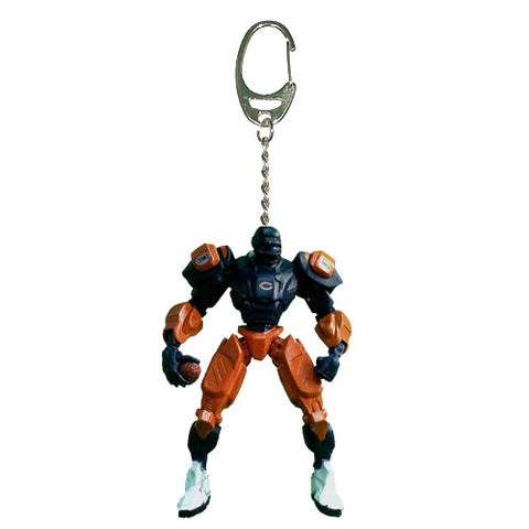 Chicago Bears Keychain Fox Robot 3 Inch Mini Cleatus