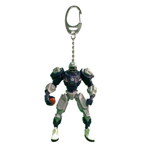 Dallas Cowboys Keychain Fox Robot 3 Inch Mini Cleatus