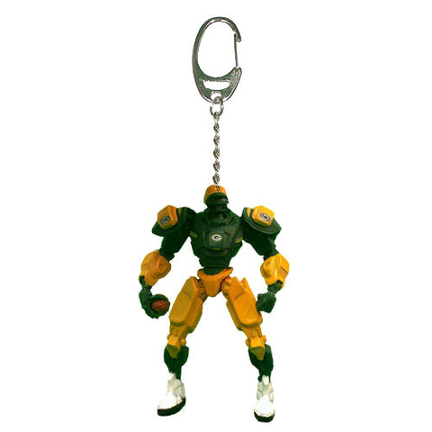 Green Bay Packers Keychain Fox Robot 3 Inch Mini Cleatus