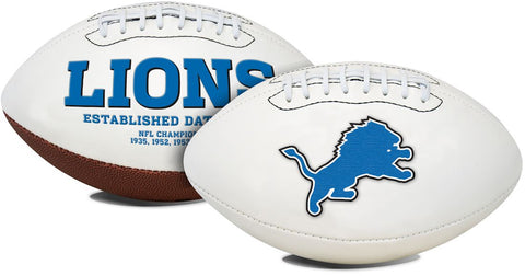 Detroit Lions Football Full Size Embroidered Signature Series