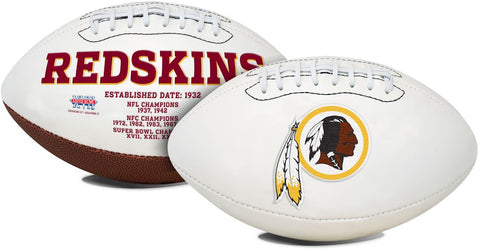Washington Redskins Football Full Size Embroidered Signature Series
