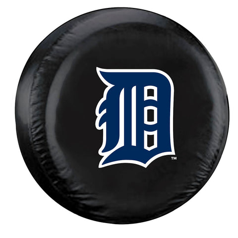 Detroit Tigers Black Tire Cover - Size Large