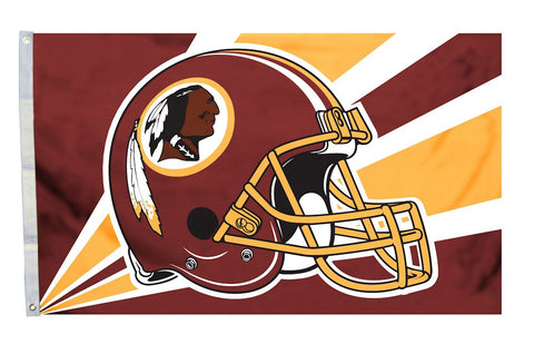 Washington Redskins Flag 3x5 Helmet Design