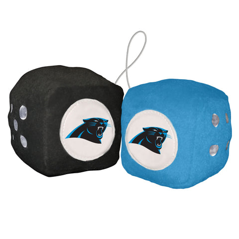 Carolina Panthers Fuzzy Dice