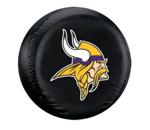 Minnesota Vikings Tire Cover Standard Size Black