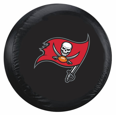 Tampa Bay Buccaneers Tire Cover Standard Size Black