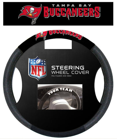 Tampa Bay Buccaneers Steering Wheel Cover - Mesh