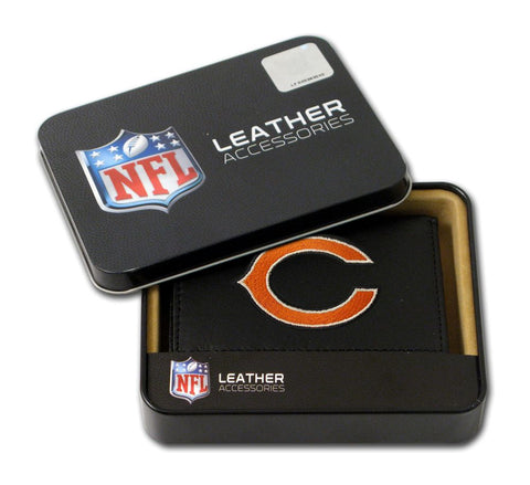 Chicago Bears Wallet Trifold Leather Embroidered