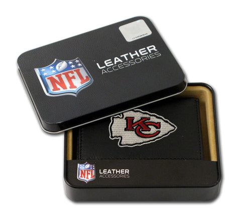 Kansas City Chiefs Wallet Trifold Leather Embroidered